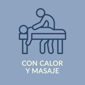 CON MASAJE Y CALOR