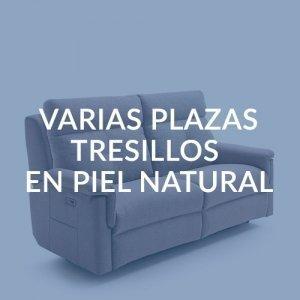 VARIAS PLAZAS- TRESILLOS EN PIEL NATURAL